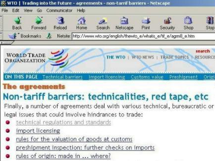 Harmonized Tariff Schedule Search
